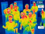 Teammates from Crystal River Nuclear Plant used infrared cameras to show how maintenance workers detect heat sources in plant equipment.