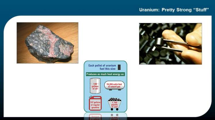 Nuclear Uranium Rock and Pellet