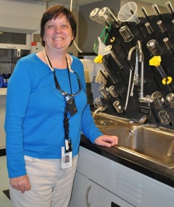 Heather Baxter in the Harris Nuclear Plant's chemistry lab