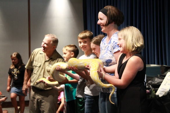 The Critter Keeper kept many guests on the edge of their seats during a recent Wednesdays at the World of Energy summer event.