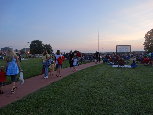 Summer movies at McGuire are always popular for locals in the Huntersville, N.C. area.