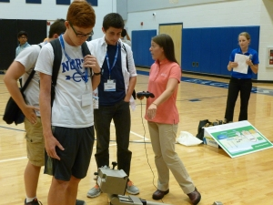 Engineers at Robinson Nuclear Plant speak to summer camp students at the S.C. Governor's School for Science and Mathematics.