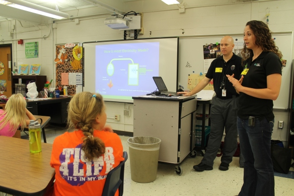 WIN members from Oconee Nuclear Station teach Girl Scouts about energy during last year's National Nuclear Science Week.