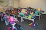 Harris Nuclear Plant donated 370 back packs to help area students.