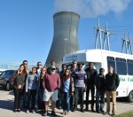 Local college students were led on a site driving tour at Harris Nuclear Plant.