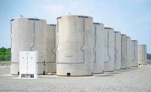 McGuire Nuclear Station dry cask storage stores spent fuel on site.