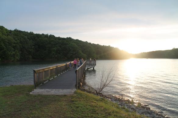The World of Energy's public fishing pier on Lake Keowee
