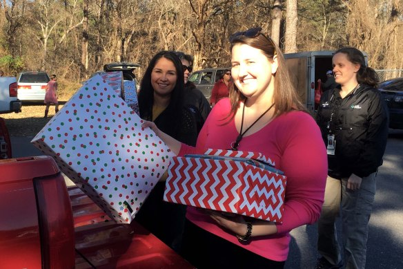 Harris Nuclear Plant teammates deliver gifts to local families.