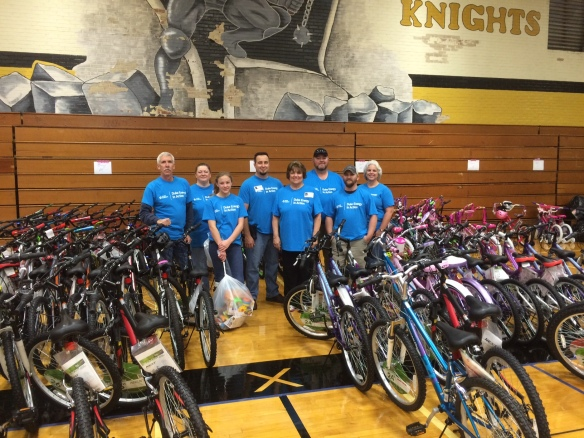 Catawba employees donated more than 150 bikes and toys through Toys for Happiness.