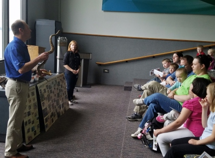 Staff from Duke Energy's environmental lab gave a talk about the wildlife of Lake Norman.