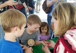 Earthworms from the Mecklenburg Master Gardeners Club were a big hit.